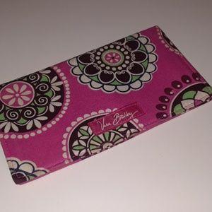 Vera Bradley pink checkbook cover